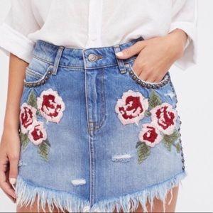 Free people studded mini skirt
